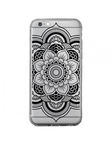 Coque iPhone 6 Plus et 6S Plus Mandala Noir Azteque Transparente - Nico