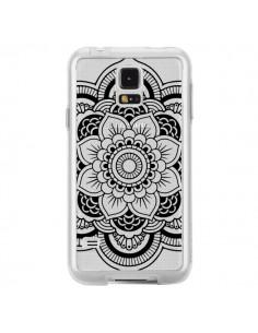Coque Mandala Noir Azteque Transparente pour Samsung Galaxy S5 - Nico