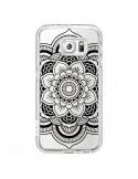 Coque Mandala Noir Azteque Transparente pour Samsung Galaxy S6 - Nico