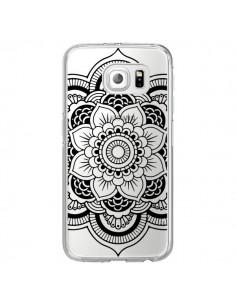 Coque Mandala Noir Azteque Transparente pour Samsung Galaxy S6 Edge - Nico