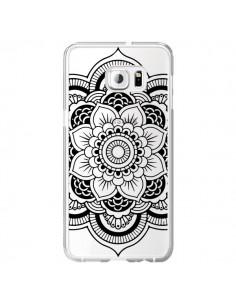 Coque Mandala Noir Azteque Transparente pour Samsung Galaxy S6 Edge Plus - Nico