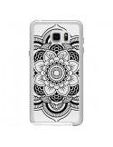 Coque Mandala Noir Azteque Transparente pour Samsung Galaxy Note 5 - Nico