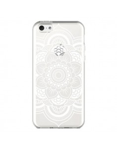 Coque Mandala Blanc Azteque Transparente pour iPhone 5C - Nico