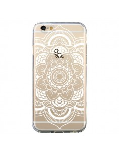 Coque iPhone 6 et 6S Mandala Blanc Azteque Transparente - Nico