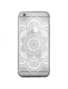 Coque iPhone 6 Plus et 6S Plus Mandala Blanc Azteque Transparente - Nico