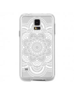 Coque Mandala Blanc Azteque Transparente pour Samsung Galaxy S5 - Nico