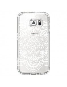 Coque Mandala Blanc Azteque Transparente pour Samsung Galaxy S6 - Nico