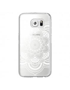 Coque Mandala Blanc Azteque Transparente pour Samsung Galaxy S6 Edge - Nico