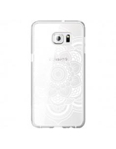 Coque Mandala Blanc Azteque Transparente pour Samsung Galaxy S6 Edge Plus - Nico