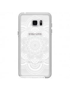 Coque Mandala Blanc Azteque Transparente pour Samsung Galaxy Note 5 - Nico