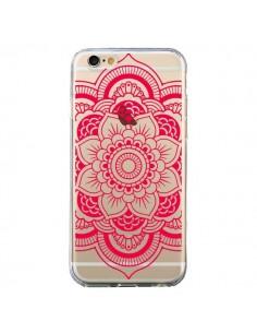 Coque Mandala Rose Fushia Azteque Transparente pour iPhone 6 et 6S - Nico