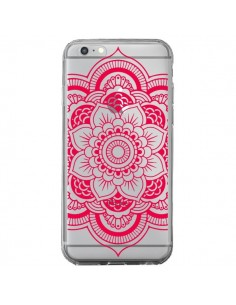 Coque iPhone 6 Plus et 6S Plus Mandala Rose Fushia Azteque Transparente - Nico