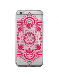 Coque Mandala Rose Fushia Azteque Transparente pour iPhone 6 Plus et 6S Plus - Nico