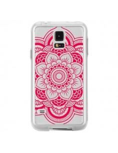 Coque Mandala Rose Fushia Azteque Transparente pour Samsung Galaxy S5 - Nico