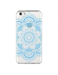 Coque Mandala Bleu Azteque Transparente pour iPhone 5C - Nico