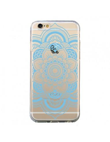 Coque Mandala Bleu Azteque Transparente pour iPhone 6 et 6S - Nico