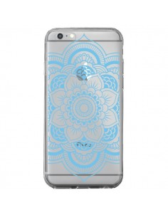 Coque iPhone 6 Plus et 6S Plus Mandala Bleu Azteque Transparente - Nico