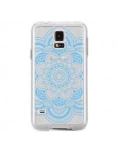 Coque Mandala Bleu Azteque Transparente pour Samsung Galaxy S5 - Nico