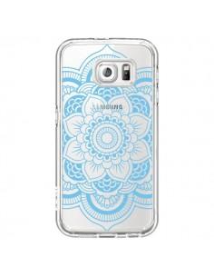 Coque Mandala Bleu Azteque Transparente pour Samsung Galaxy S6 - Nico