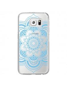 Coque Mandala Bleu Azteque Transparente pour Samsung Galaxy S6 Edge - Nico