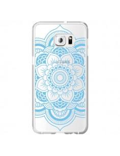 Coque Mandala Bleu Azteque Transparente pour Samsung Galaxy S6 Edge Plus - Nico