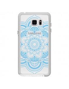 Coque Mandala Bleu Azteque Transparente pour Samsung Galaxy Note 5 - Nico