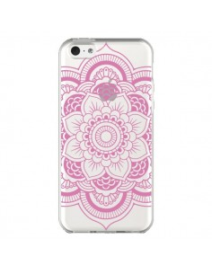 Coque iPhone 5C Mandala Rose Clair Azteque Transparente - Nico