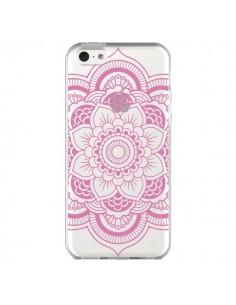 Coque Mandala Rose Clair Azteque Transparente pour iPhone 5C - Nico
