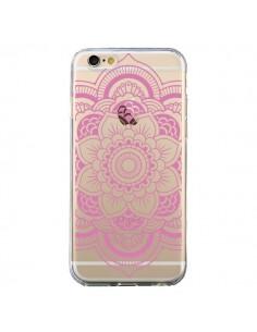 Coque iPhone 6 et 6S Mandala Rose Clair Azteque Transparente - Nico