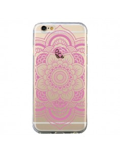 Coque Mandala Rose Clair Azteque Transparente pour iPhone 6 et 6S - Nico