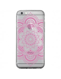 Coque iPhone 6 Plus et 6S Plus Mandala Rose Clair Azteque Transparente - Nico