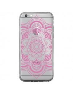 Coque Mandala Rose Clair Azteque Transparente pour iPhone 6 Plus et 6S Plus - Nico