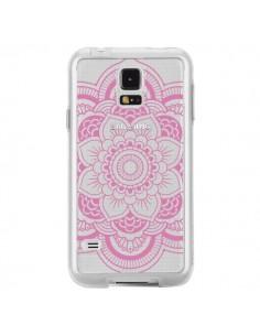 Coque Mandala Rose Clair Azteque Transparente pour Samsung Galaxy S5 - Nico