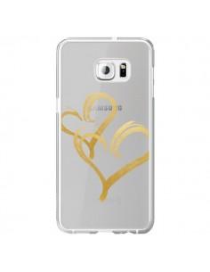 Coque Deux Coeurs Love Amour Transparente pour Samsung Galaxy S6 Edge Plus - Sylvia Cook