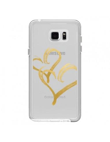 Coque Deux Coeurs Love Amour Transparente pour Samsung Galaxy Note 5 - Sylvia Cook