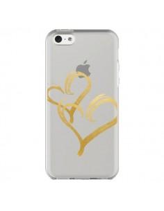 Coque Deux Coeurs Love Amour Transparente pour iPhone 5C - Sylvia Cook