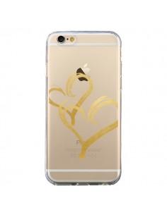 Coque Deux Coeurs Love Amour Transparente pour iPhone 6 et 6S - Sylvia Cook