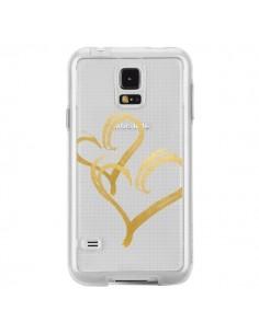 Coque Deux Coeurs Love Amour Transparente pour Samsung Galaxy S5 - Sylvia Cook