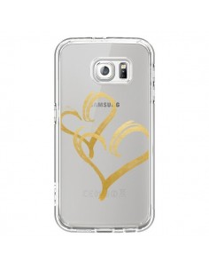 Coque Deux Coeurs Love Amour Transparente pour Samsung Galaxy S6 - Sylvia Cook