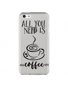 Coque All you need is coffee Transparente pour iPhone 5C - Sylvia Cook