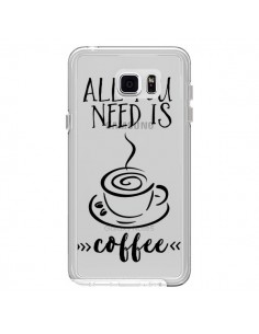 Coque All you need is coffee Transparente pour Samsung Galaxy Note 5 - Sylvia Cook