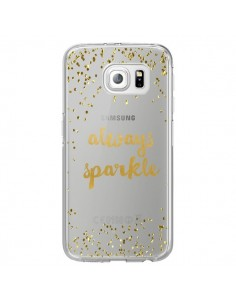 Coque Always Sparkle, Brille Toujours Transparente pour Samsung Galaxy S6 Edge - Sylvia Cook