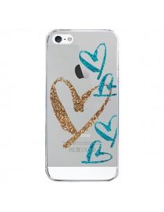 Coque iPhone 5/5S et SE Coeurs Heart Love Amour Transparente - Sylvia Cook