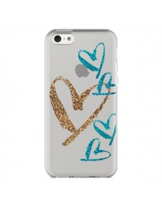 Coque iPhone 5C Coeurs Heart Love Amour Transparente - Sylvia Cook