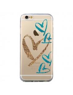 Coque iPhone 6 et 6S Coeurs Heart Love Amour Transparente - Sylvia Cook