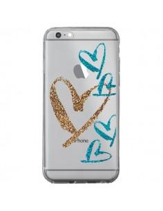 Coque Coeurs Heart Love Amour Transparente pour iPhone 6 Plus et 6S Plus - Sylvia Cook