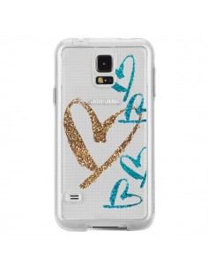 Coque Coeurs Heart Love Amour Transparente pour Samsung Galaxy S5 - Sylvia Cook