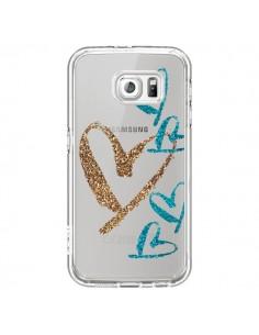Coque Coeurs Heart Love Amour Transparente pour Samsung Galaxy S6 - Sylvia Cook
