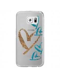 Coque Coeurs Heart Love Amour Transparente pour Samsung Galaxy S6 Edge - Sylvia Cook