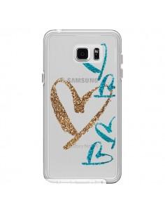 Coque Coeurs Heart Love Amour Transparente pour Samsung Galaxy Note 5 - Sylvia Cook